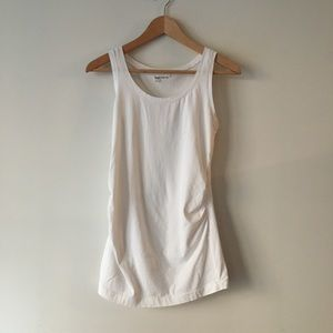 GAP Maternity Pure Body Tank Top in White - M